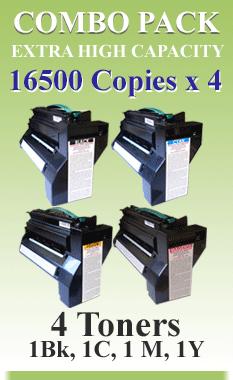 Combo Pack 4 Toner Primera Cx1000, Cx1200